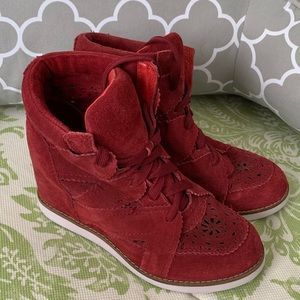 Jeffrey Campbell ibiza red wedge shoes size 6.5